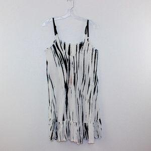 Rubimoon Dresses - RubiMoon Tie Dyed Ruffled Slip Dress Adjustable
